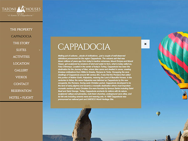 Web project for tafonicavehotel